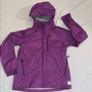 Girls REI Rain Jacket Size XL (18) purple